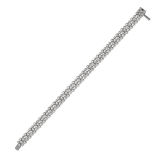 Mayors 18ct White Gold 3.79ct Starry Night Bracelet