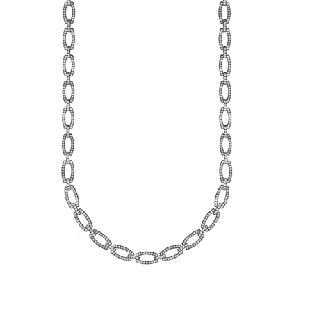 18ct White Gold 4.20ct Diamond Necklace