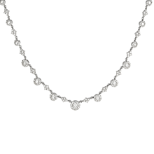Mayors 18ct White Gold 4.70ct Sunburst Necklace