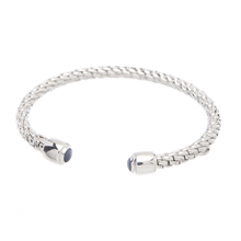For Her - FOPE Silverfope Eyes Sapphire Bangle - 751AG-1G ZAF