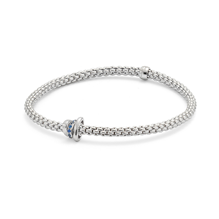 Exclusive Fope Flex'it White Gold Sapphire Prima Bracelet