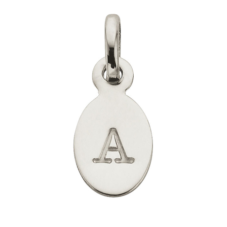 Kirstin Ash A - Oval Letter Sterling Silver