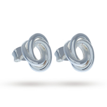 Olivia Burton Knotted Stud Earrings Silver