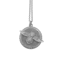 Olivia Burton Moulded Bee And Coin Necklace Silver OBJ16AMN10
