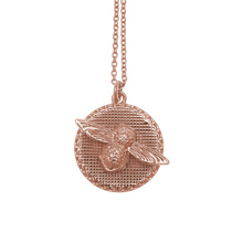 Olivia Burton Moulded Bee And Coin Necklace Rose Gold OBJ16AMN09