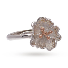 Olivia Burton Flower Show Poppy Ring Rose Gold & Silver OBJ16FSR02