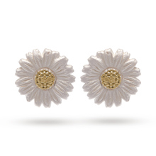 Olivia Burton Daisy Stud Earrings Silver / Gold OBJ16DAE01