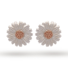 Olivia Burton Daisy Stud Earrings Silver/ Rose Gold OBJ16DAE02