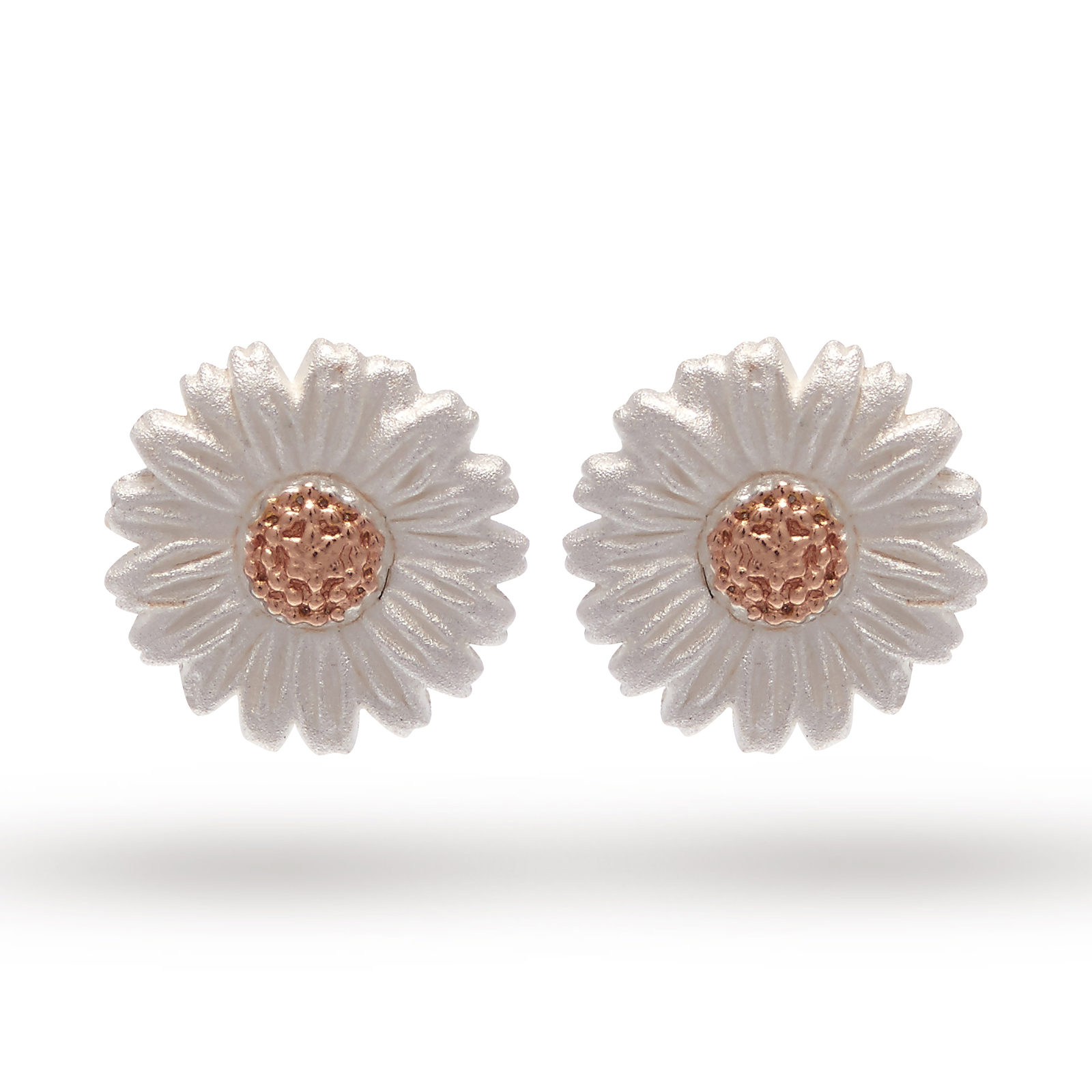 Olivia Burton Daisy Stud Earrings Silver Rose Gold Obj16dae02
