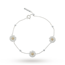 Olivia Burton Daisy And Ball Chain Bracelet Silver/gold OBJ16DAB01