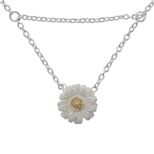 Olivia Burton Daisy Drop Necklace Silver/Gold OBJ16DAN01