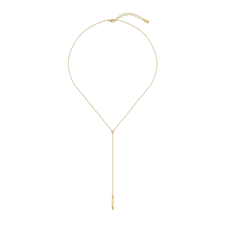 Hugo Boss Signature Yellow Gold Coloured Necklace