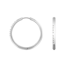 BOSS Insignia Stainless Steel Hoop Earrings
