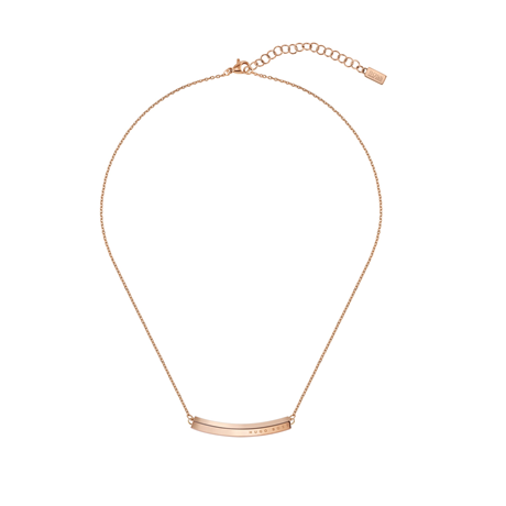 BOSS Insignia Rose Gold Coloured Necklace