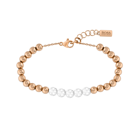 BOSS Beads Rose Gold Coloured & Ceramic Bracelet