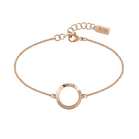 BOSS Ophelia Crystal Rose Gold Coloured Bracelet