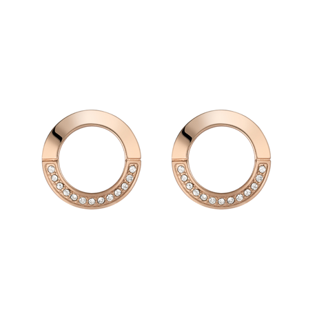 BOSS Ophelia Crystal Rose Gold Coloured Stud Earrings