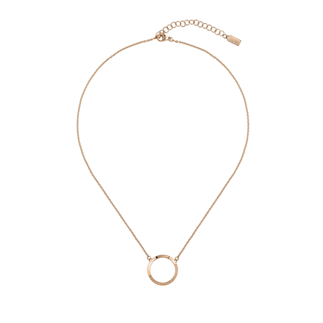 Hugo Boss Ophelia Crystal Rose Gold Coloured Necklace
