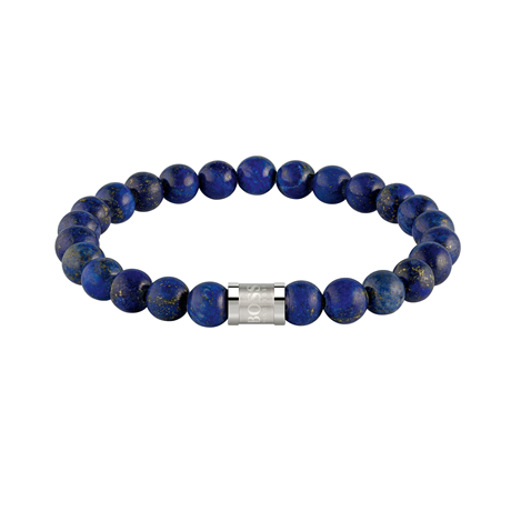 BOSS Beads Onyx & Stainless Steel Bracelet