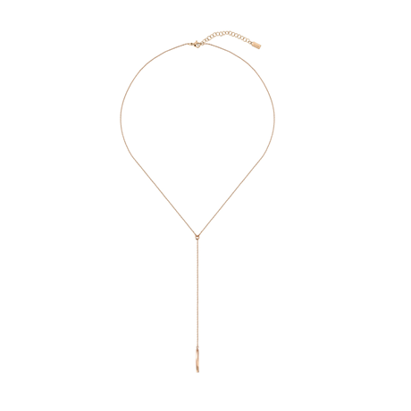 Hugo Boss Signature Rose Gold Coloured Necklace