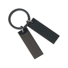 Hugo Boss Basic Black Leather Keyring