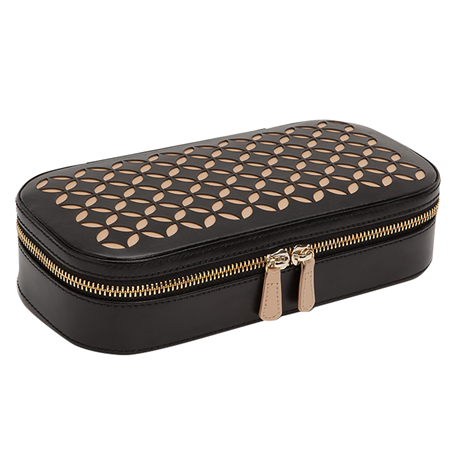 Chloe Zip Jewellery Case - Black