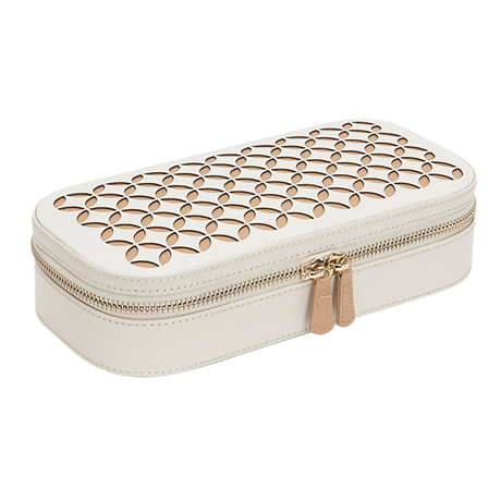 Chloe Zip Jewellery Case - Cream