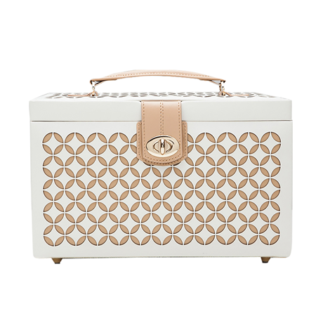 Chloe Medium Jewellery Case - Cream