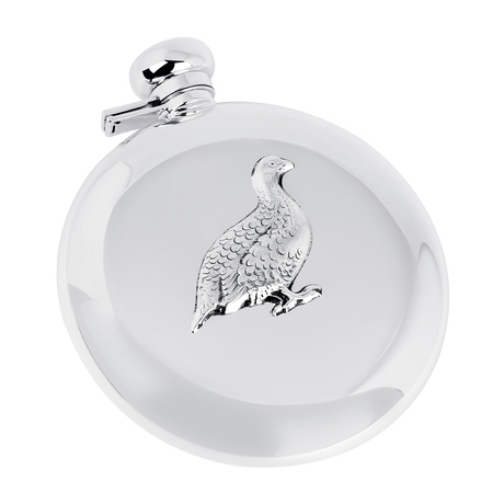 Sterling Silver 7oz Grouse Flask
