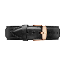 Daniel Wellington Black Leather Replacement Strap 0307DW