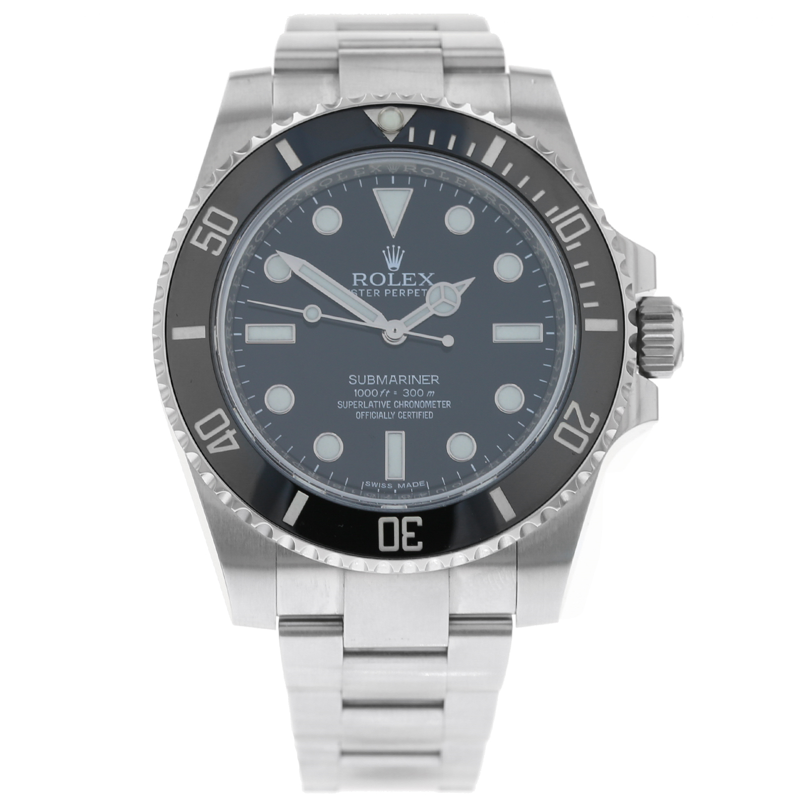 Pre-Owned Rolex Submariner Mens Watch 114060