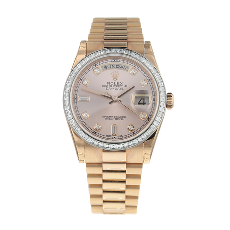 Pre-Owned Rolex Day-Date Mens Watch 118395BR
