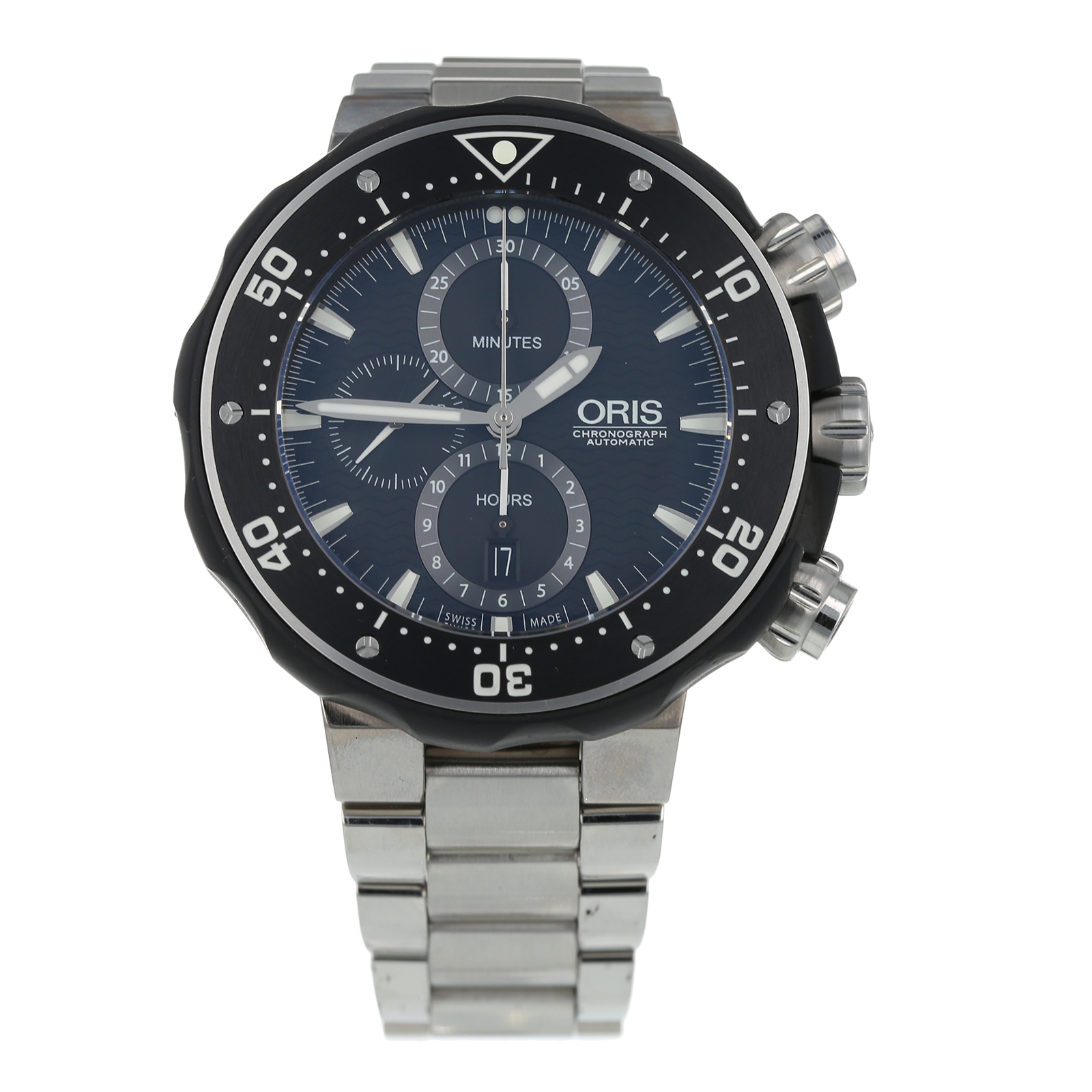 Pre-Owned Oris Pro-Diver Chronograph Mens Watch 01 774 7727 7154
