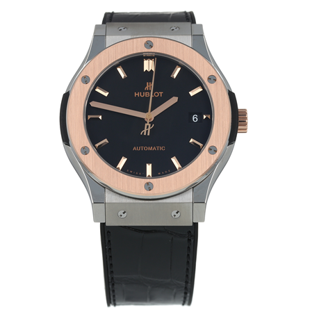 Pre-Owned Hublot Classic Fusion Titanium King Gold Mens Watch 511.N0.1161.LR