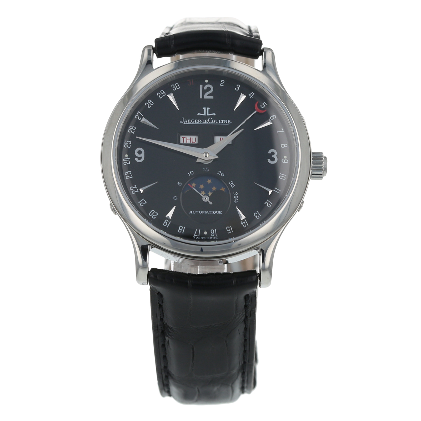 Pre-Owned Jaeger-LeCoultre Master Control Moon Mens Watch 140.898.S