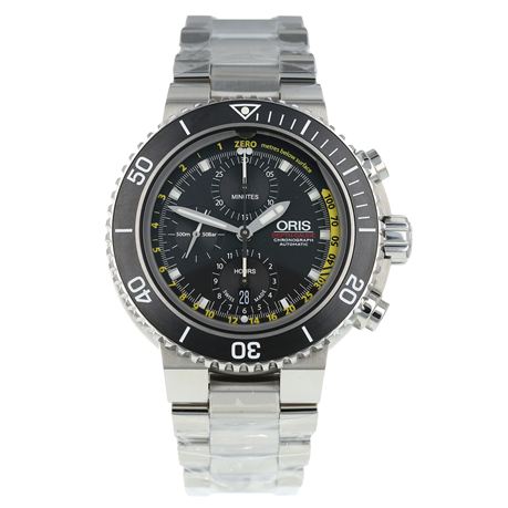 Pre-Owned Oris Aquis Depth Gauge Mens Watch 01 774 7708 4154-Set MB
