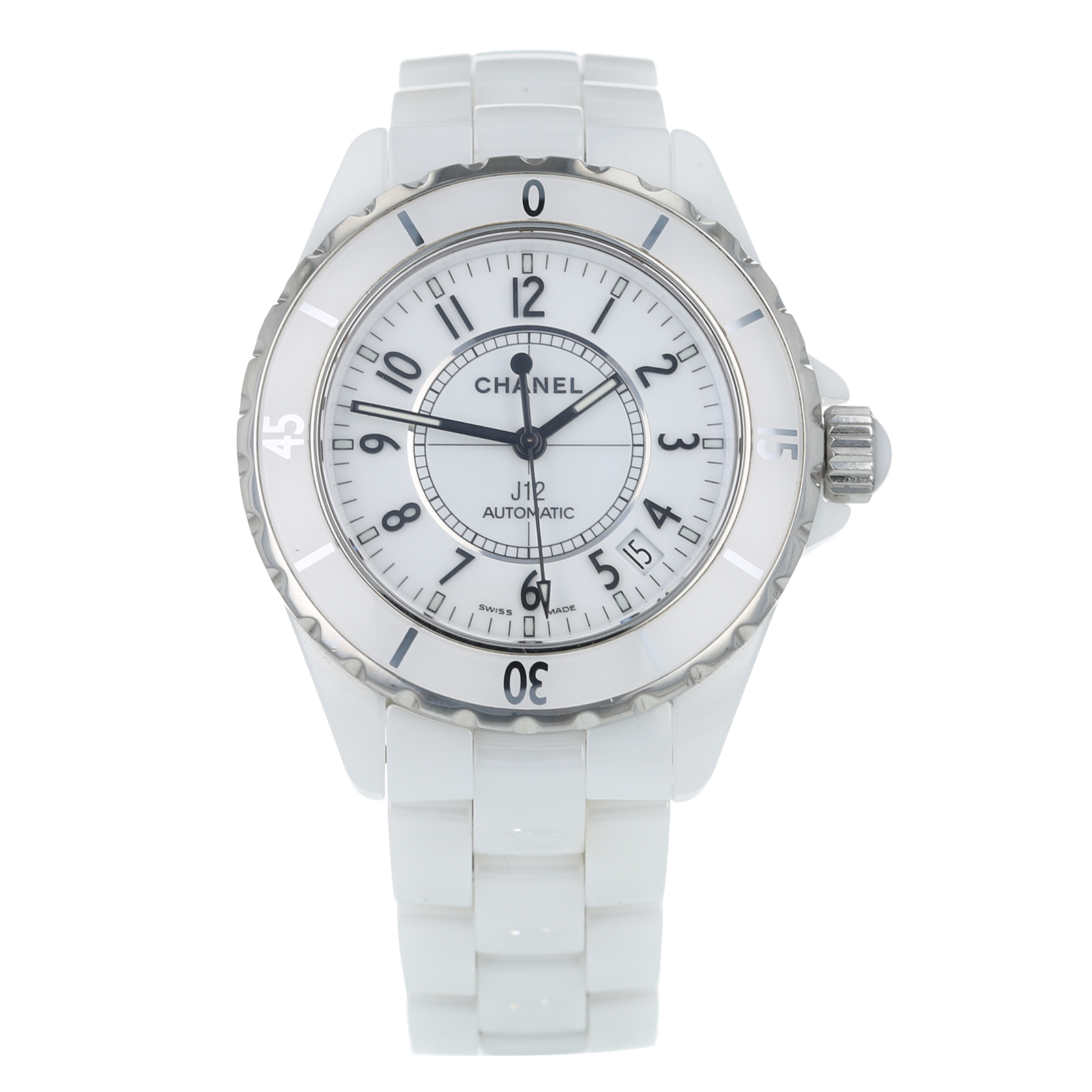 Pre-Owned Chanel J12 White Unisex Watch H0970