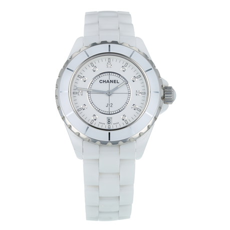 Pre-Owned Chanel J12 White Ladies Watch H2125