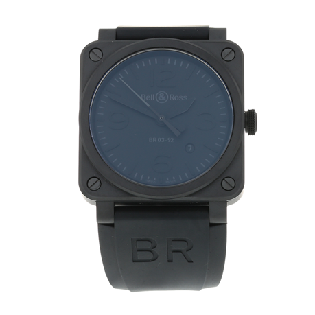 Pre-Owned Bell & Ross BR03-92 Black Matte Mens Watch BR03-92-CBL