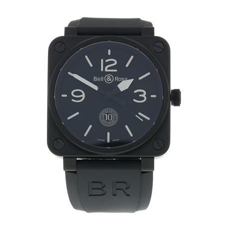 Pre-Owned Bell & Ross BR01-92 10th Anniversary Limited Edition Mens Watch BR0192-10TH-CE