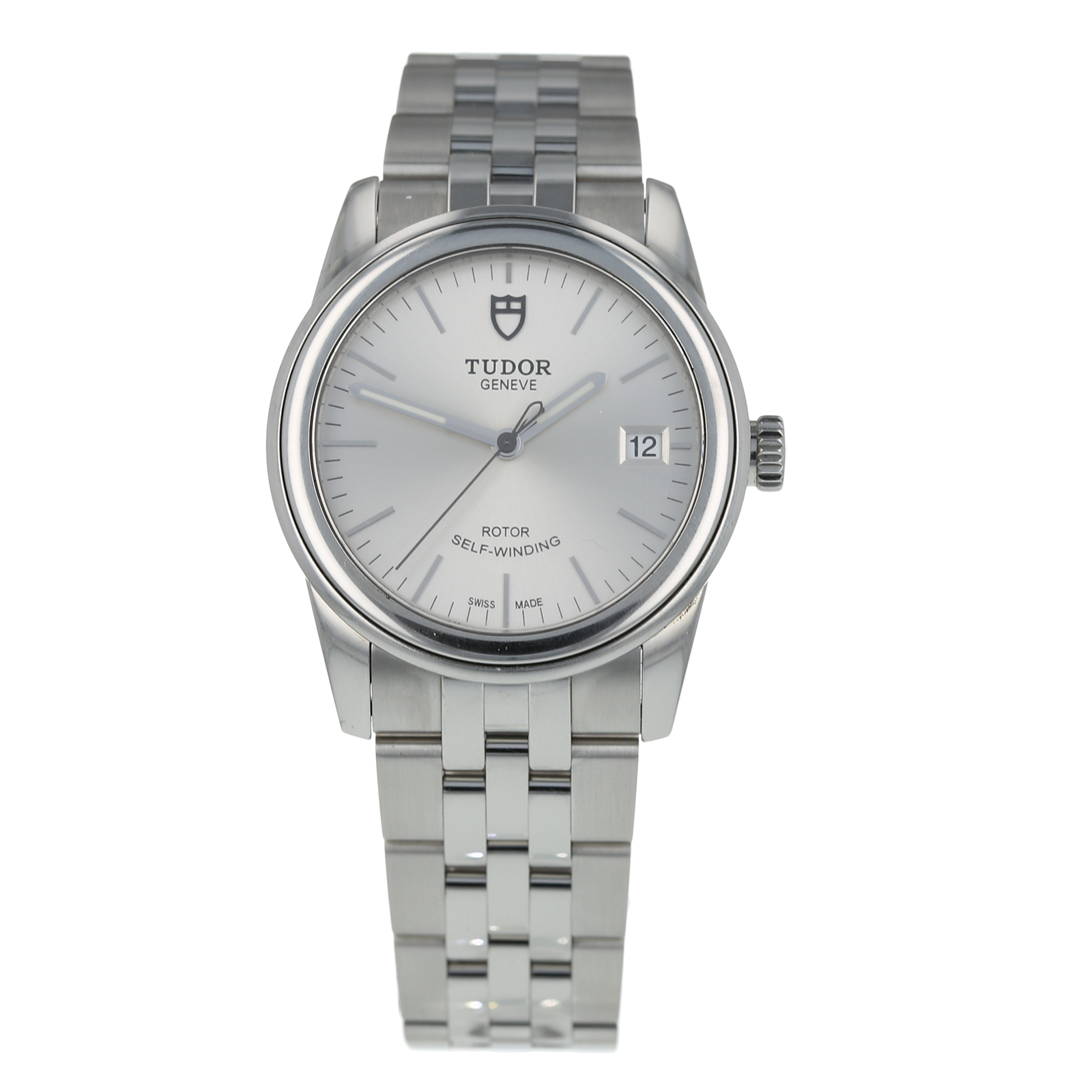 Pre-Owned Tudor Glamour Date Mens Watch 55000