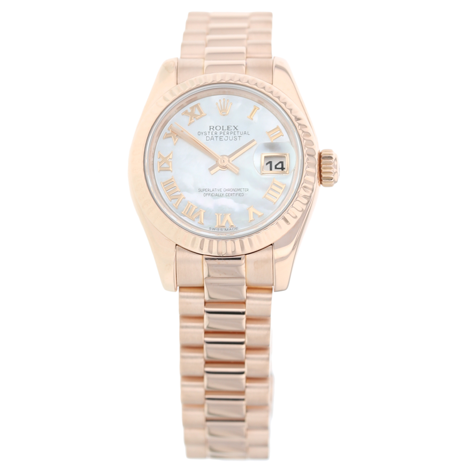 Pre-Owned Rolex Datejust Mother Of Pearl Ladies Watch 179175F