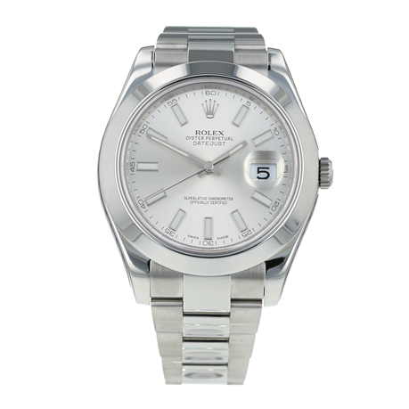 Pre-Owned Rolex Datejust II Silver Oyster Ladies Watch 116300