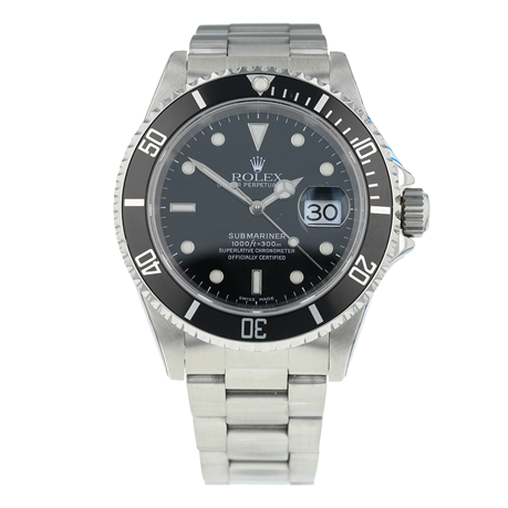 Pre-Owned Rolex Submariner Date Mens Watch 16610