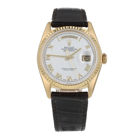 Pre-Owned Rolex Day-Date Mens Watch 18038