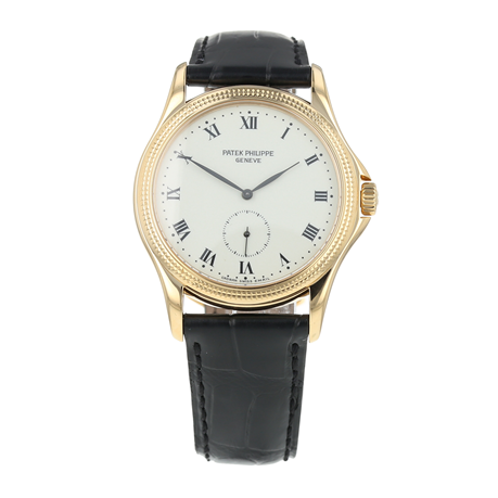 Pre-Owned Patek Philippe Calatrava Mens Watch 5115J-001