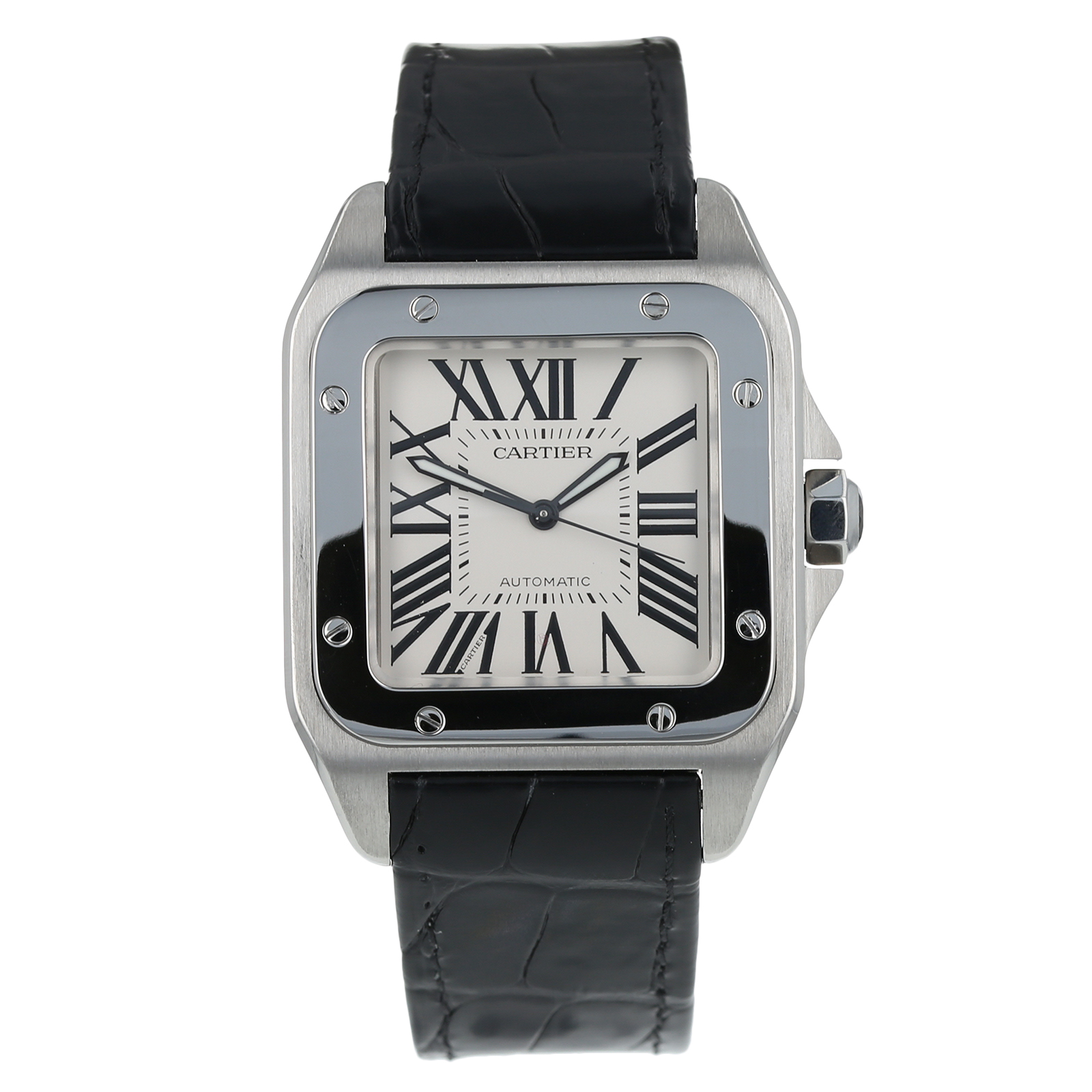 8431e66ac16d1 Pre-Owned Cartier Santos 100 Mens Watch W20073X8/ 2656
