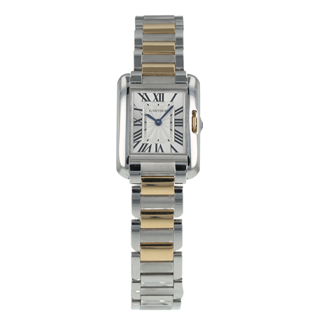 Pre-Owned Cartier Tank Anglaise Ladies Watch W5310046/ 3485