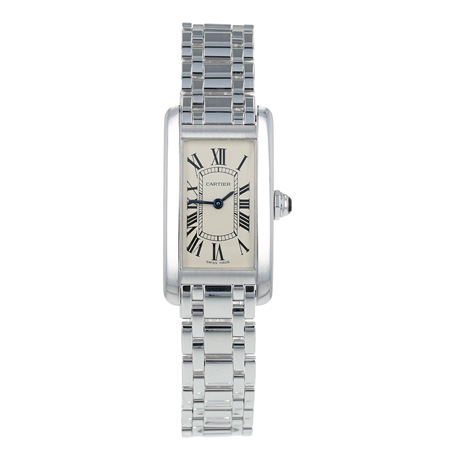Pre-Owned Cartier Tank Americaine Ladies Watch W26019L1