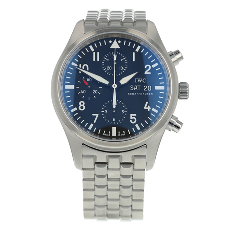 Pre-Owned IWC Pilots Chronograph Mens Watch IW371704